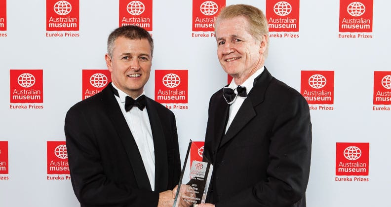 From left: Andrew Jenkin (Rio Tinto) and Scanalyse CEO Peter Clarke
