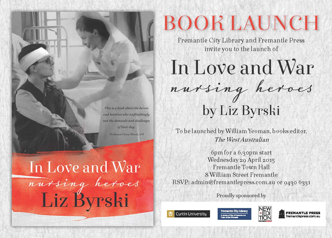 book launch invitation news and events curtin university perth