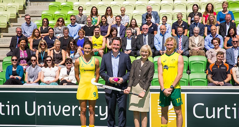 Hockey hits goal with Curtin in new partnership - News and Events
