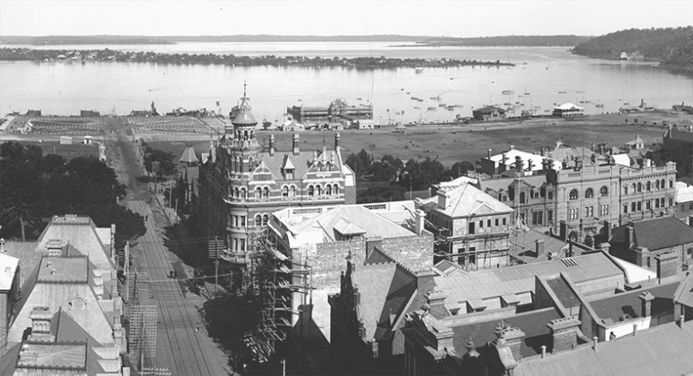 View from the Perth Town Hall in 1906. Photo credit: State Library of Western Australia.