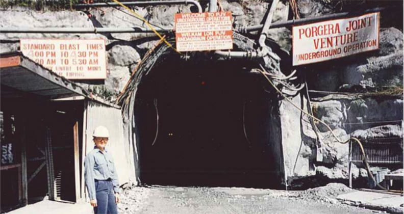 Atkins worked at Porgera Mine in PNG from 1995-1997.