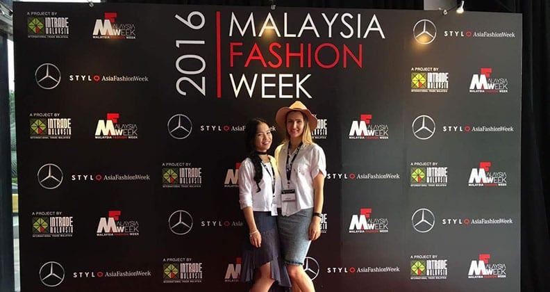 Fashion student Sarah Mah and alumna Cordelia Gibbs.