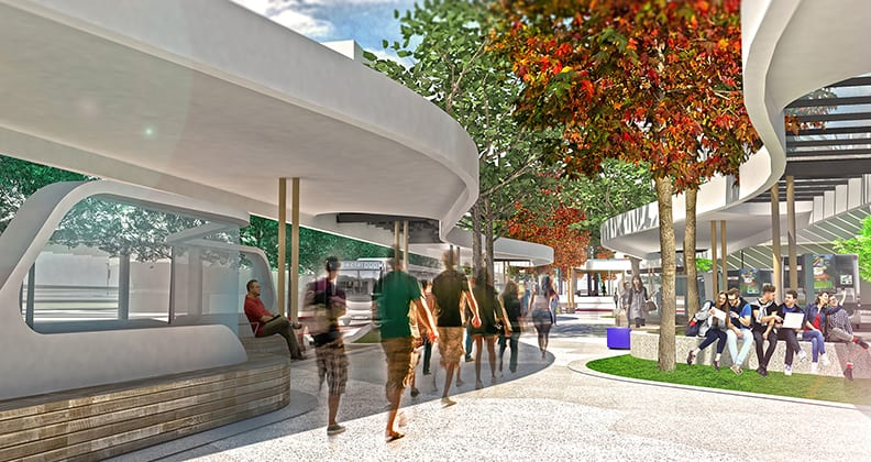 artist's impression of the Bus Interchange Ground Plane