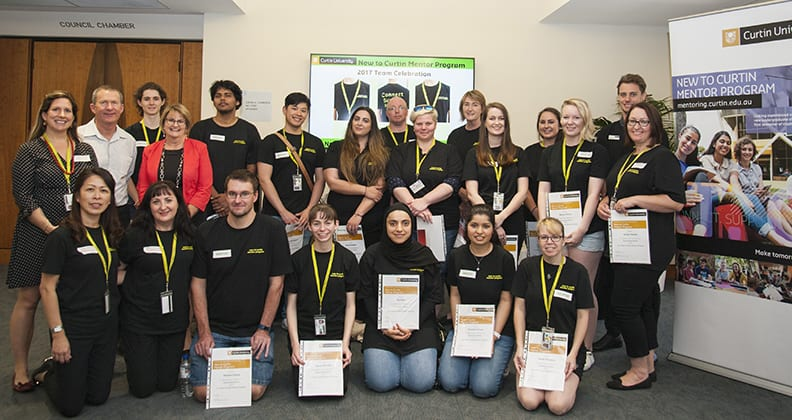 Group photo of mentor winners