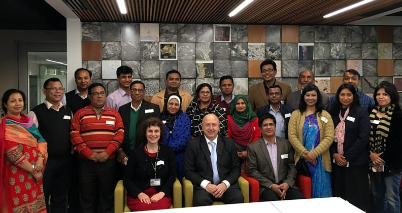 Curtin University academics and the Bangladesh contingent