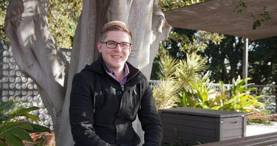 Student shares his rock-solid passion for geology through Curtin's UniPASS program