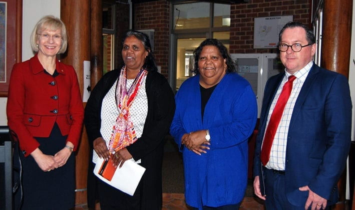The Vice-Chancellor, Professor Deborah Terry, Director Indigenous Engagement, Ms Cheryl Davis, Director Centre for Aboriginal Studies, Ms Marion Kickett, and the faculty's Pro Vice-Chancellor, Professor Archie Clements.