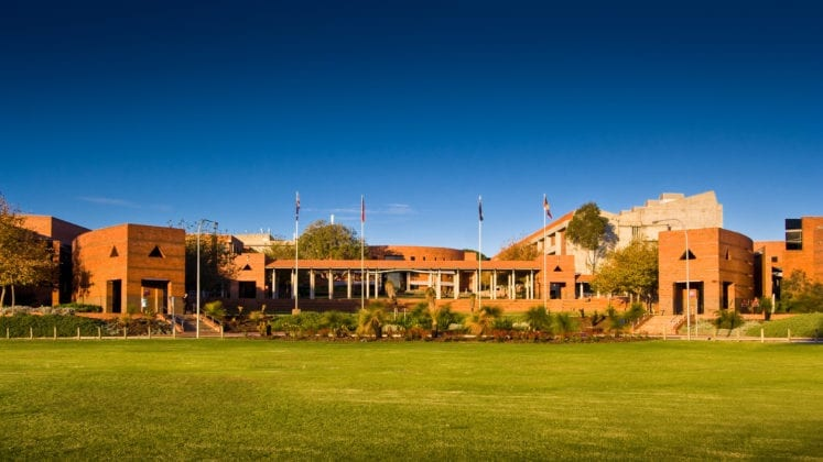 A front shot of the Curtin Perth grounds
