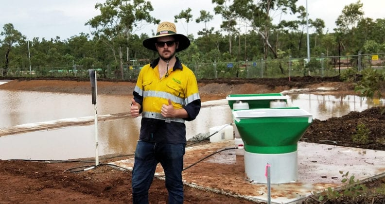 Paul Brandis, at a water management project.