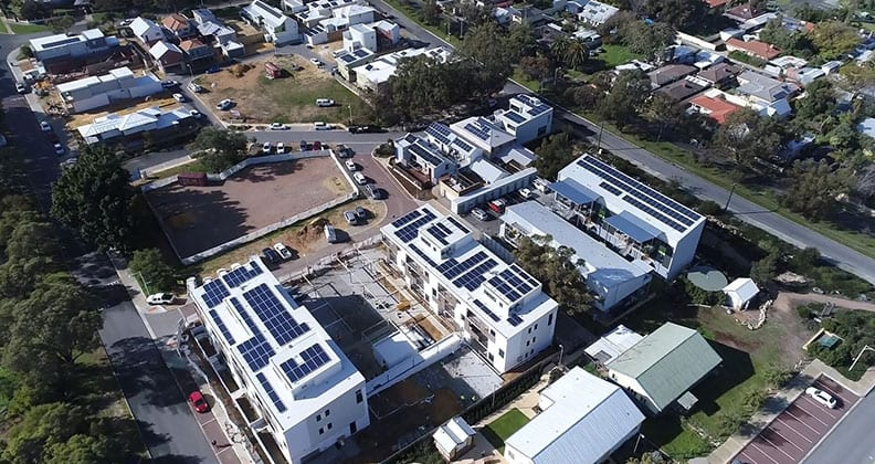 Aerial view of White Gum Valley WGV