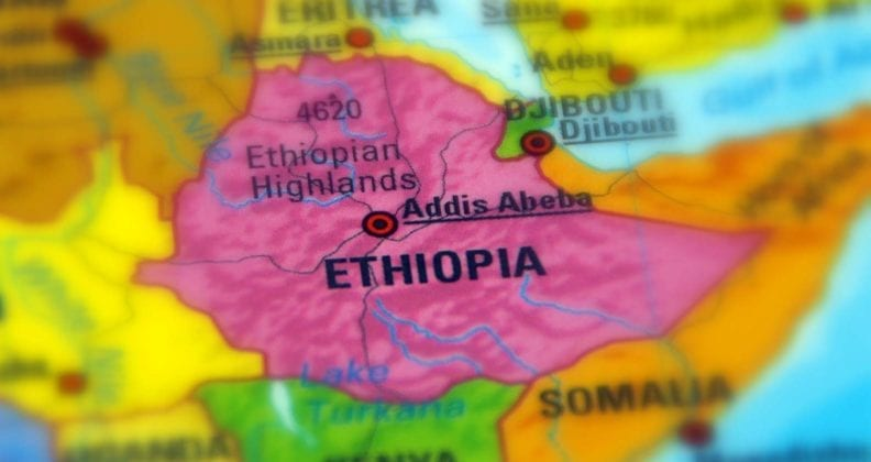Ethiopia, officially the Federal Democratic Republic of Ethiopia map