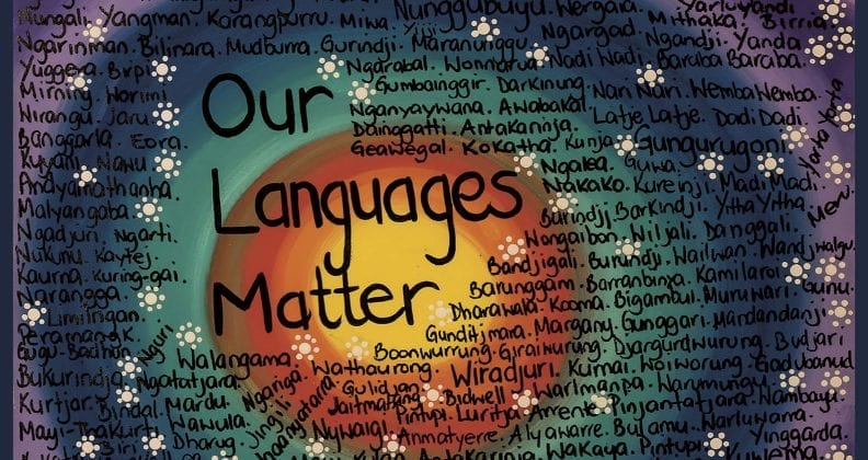NAIDOC week poster of 'our languages matter'