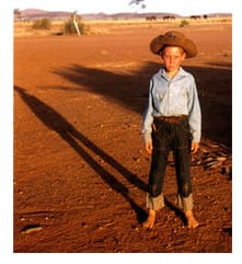 Joel Smoker as a young boy in the outback