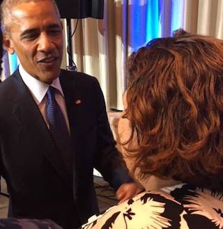 Kate Brown meeting Obama in Hawaii