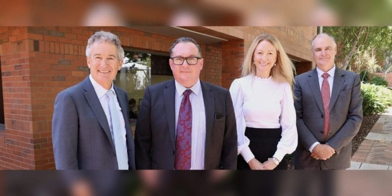 ESIA Founder and Director Professor Marcus Atlas, Curtin Faculty of Health Sciences Pro Vice-Chancellor Professor Archie Clements, ESIA CEO Sandra Bellekom and Curtin Deputy Vice-Chancellor Research Professor Chris Moran.