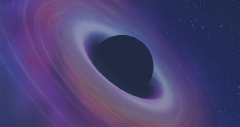 Artist rendition of an object in space.